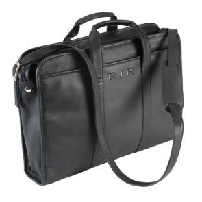 Personalized Leather Soft-Sided 17-inch Laptop Brief