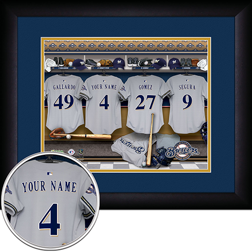 Personalized Milwaukee Brewers MLB Locker Room Sign - Personalized Gifts for Men - GUYVILLE
