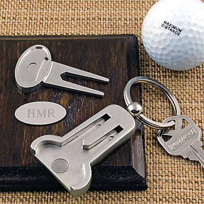 Multi-Function Golf Key Ring - Personalized