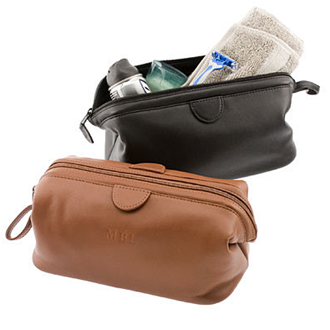 Personalized Nappa Leather Deluxe Toiletry Bag