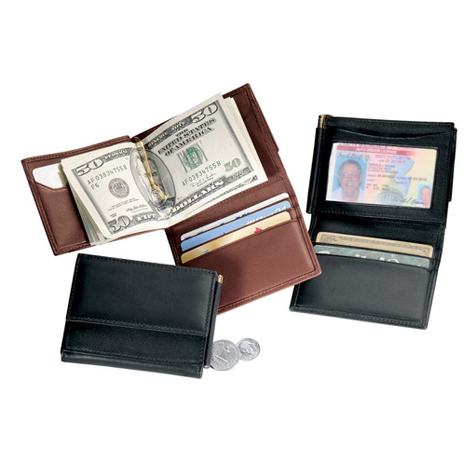 Personalized Nappa Leather Money Clip Wallet