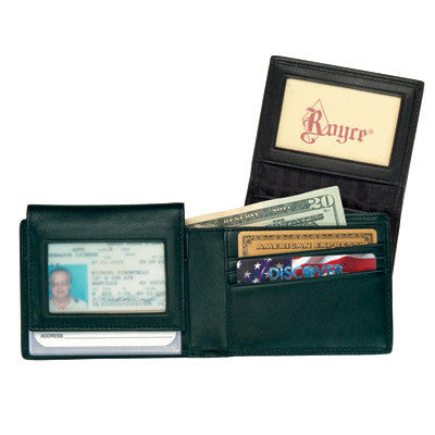 Nappa  Leather  Removable ID Pass Case Wallet - Personalized