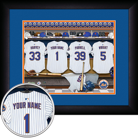 Personalized New York Mets MLB Locker Room Sign