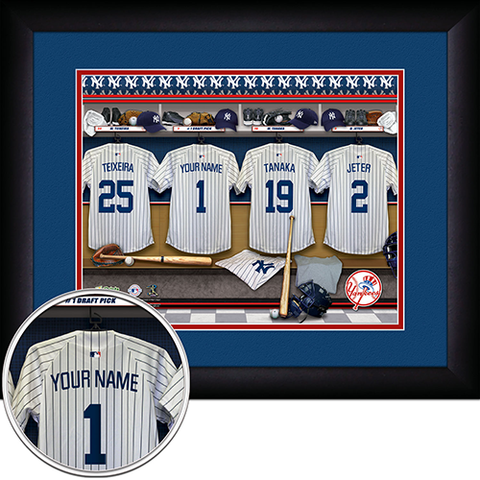 Personalized New York Yankees MLB Locker Room Sign