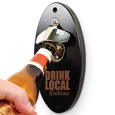 Personalized Drink Local Wall Mounted Beer Opener - Personalized Gifts for Men - GUYVILLE