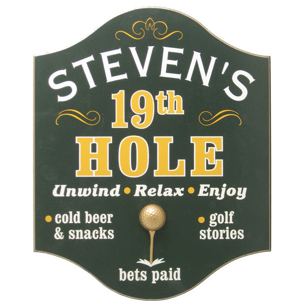 "Personalized ""19th Hole"" Sign"