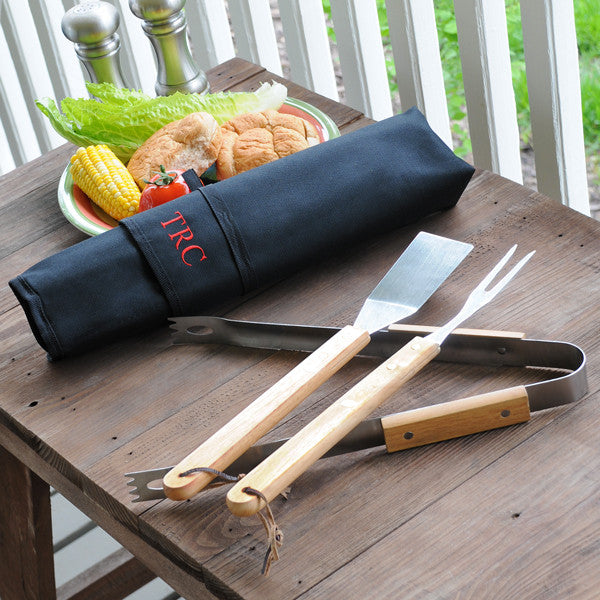 Personalized 3pc. Backyard BBQ Grill Set - Personalized Gifts for Men - GUYVILLE