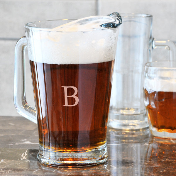 Personalized All Purpose Glass Pitcher - Personalized Gifts for Men - GUYVILLE