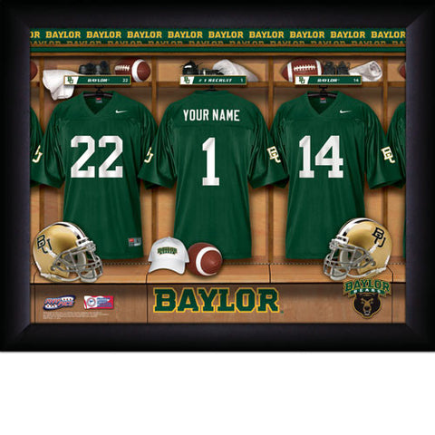 Personalized Baylor Bears Football Locker Room Signs