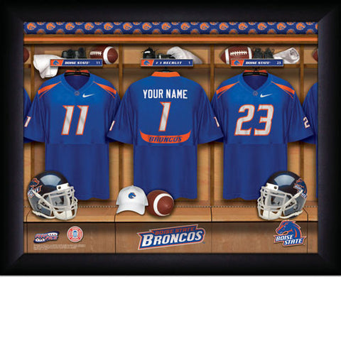 Personalized Boise State Broncos Football Locker Room Signs