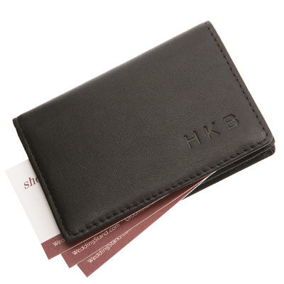Personalized Business Card Holder in Nappa Leather - Personalized Gifts for Men - GUYVILLE