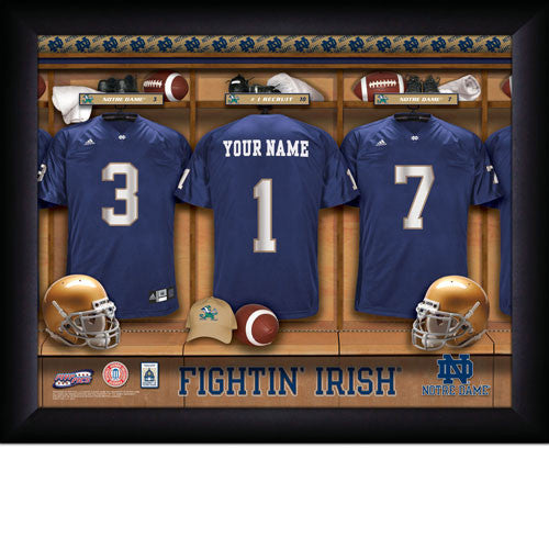 Personalized College Football Locker Room Sign - Notre Dame Fighting Irish - Personalized Gifts for Men - GUYVILLE
