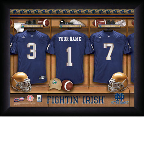 Personalized College Football Locker Room Sign - Notre Dame Fighting Irish