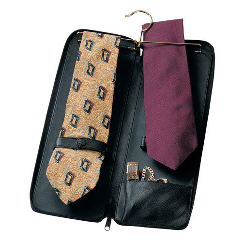 Personalized Deluxe Leather Tie Case