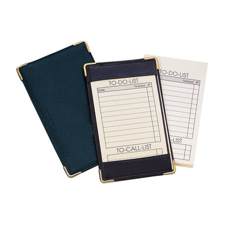 Personalized  Deluxe Pocket Jotter in Nappa Leather