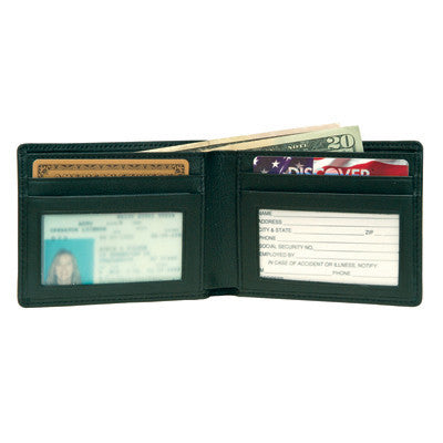 Personalized  Flat Fold Wallet in Nappa  Leather