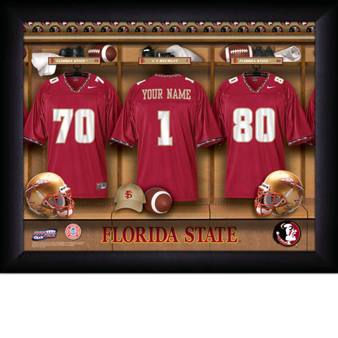 Personalized Florida State Seminoles Football Locker Room Signs