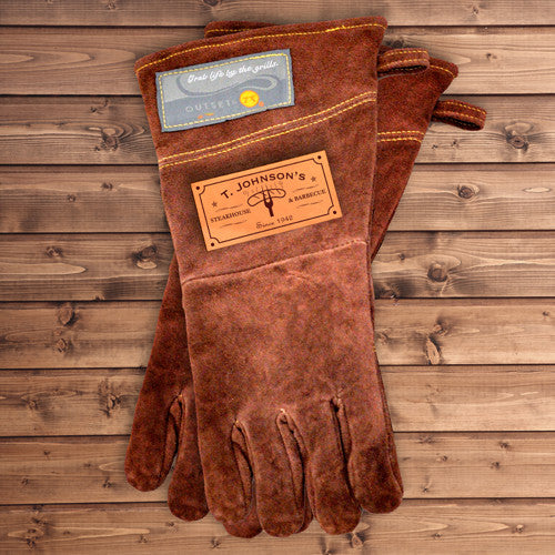 Personalized Handmade Leather Grilling Gloves