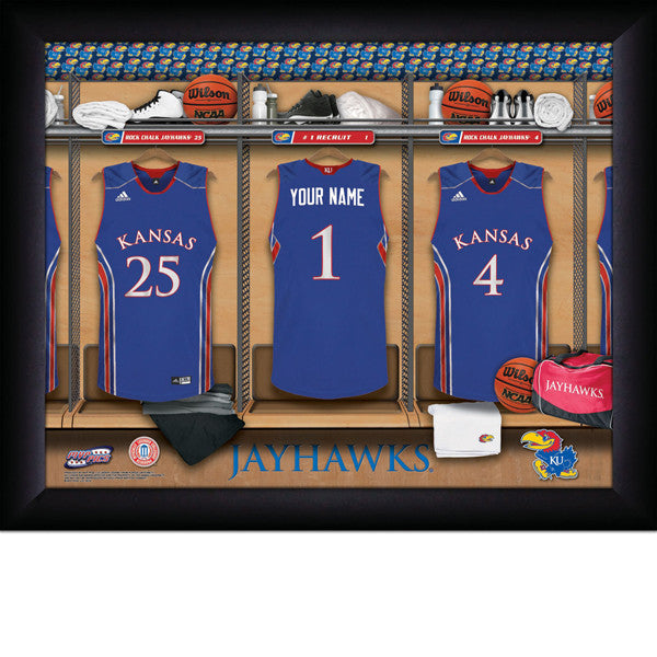 Personalized Kansas Jayhawks Basketball Locker Room Sign - Personalized Gifts for Men - GUYVILLE