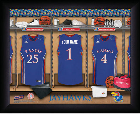 Personalized Kansas Jayhawks Basketball Locker Room Sign