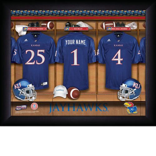 Personalized Kansas Jayhawks Football Locker Room Sign - Personalized Gifts for Men - GUYVILLE