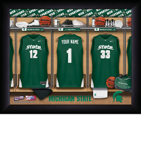 Personalized Michigan State Spartans Basketball Locker Room Sign