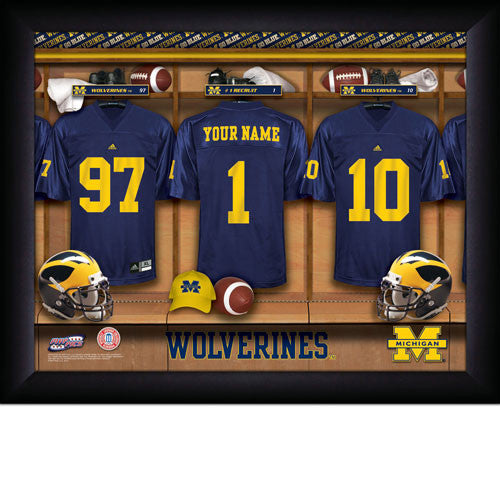 Personalized Michigan Wolverines Football Locker Room Sign