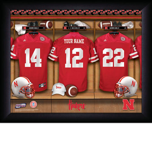 Personalized Nebraska Huskers Football Locker Room Sign - Personalized Gifts for Men - GUYVILLE