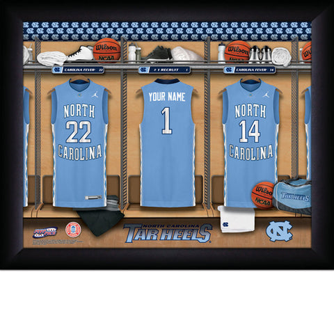 Personalized North Carolina Tar Heels Basketball Locker Room Sign