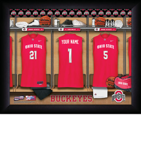 Personalized Ohio State Buckeyes Basketball Locker Room Sign -