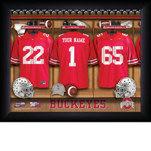 Personalized Ohio State Buckeyes Football Locker Room Sign