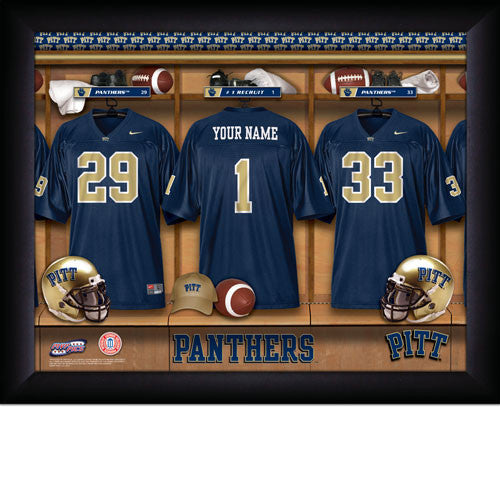 Personalized Pittsburgh Panthers Football Locker Room Sign