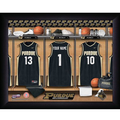 Personalized Purdue College Basketball Locker Room Sign
