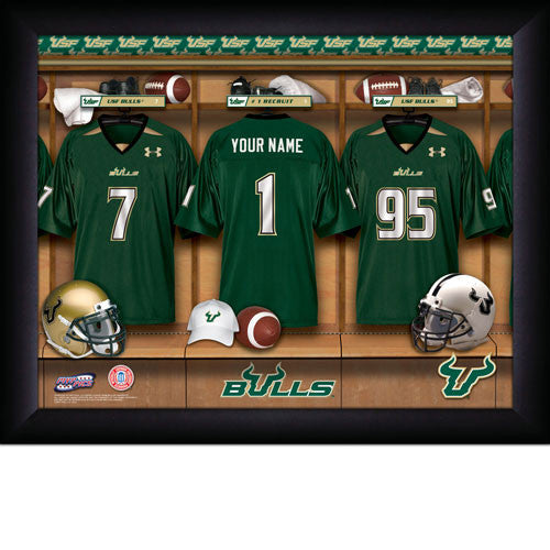 Personalized South Florida Bulls Football Locker Room Sign - Personalized Gifts for Men - GUYVILLE