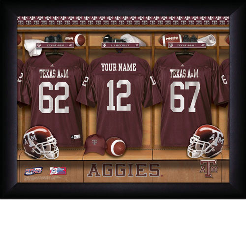 Personalized Texas A&M Football Locker Room Sign