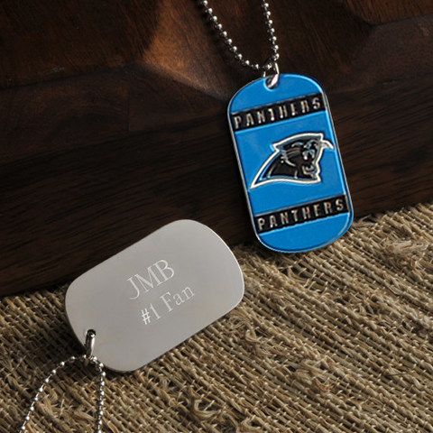 Personalized True Colors NFL Carolina Panthers Dog Tag