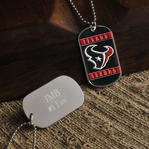 Personalized True Colors NFL Houston Texans Dog Tag