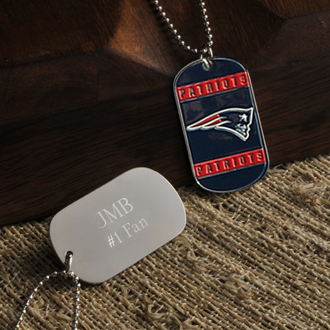 Personalized True Colors NFL New England Patriots Dog Tag