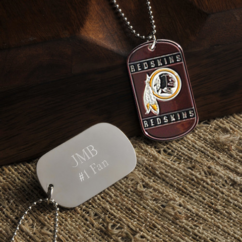 Personalized True Colors NFL Washington Redskins Dog Tag