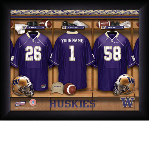 Personalized Washington Huskies College Football Locker Room Signs - Personalized Gifts for Men - GUYVILLE