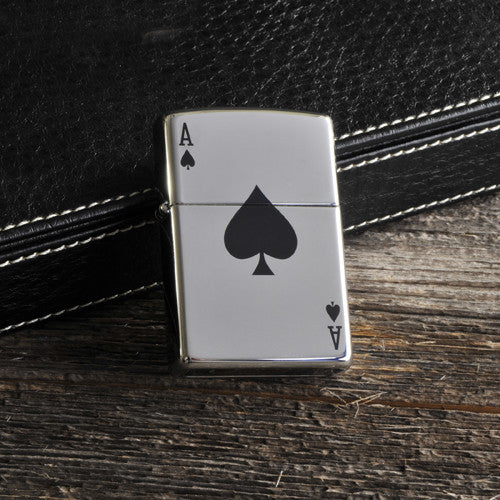 Personalized Aces Zippo Lighter