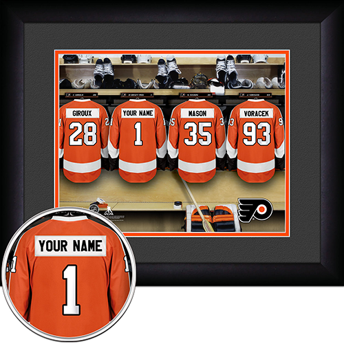 NHL Philadelphia Flyers Locker Room Sign with Personalization - Personalized Gifts for Men - GUYVILLE