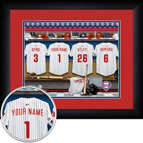 Personalized Philadelphia Phillies MLB Locker Room Sign