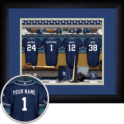 Personalized San Diego Padres MLB Locker Room Sign - Personalized Gifts for Men - GUYVILLE