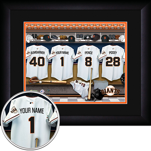 Personalized San Francisco Giants MLB Locker Room Sign - Personalized Gifts for Men - GUYVILLE