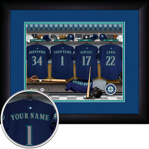 Personalized Seattle Mariners MLB Locker Room Sign - Personalized Gifts for Men - GUYVILLE