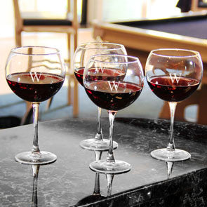 Set of 4 Personalized Red Wine Glasses - Personalized Gifts for Men - GUYVILLE