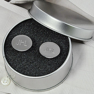 Silver Oval Cufflinks - Personalized