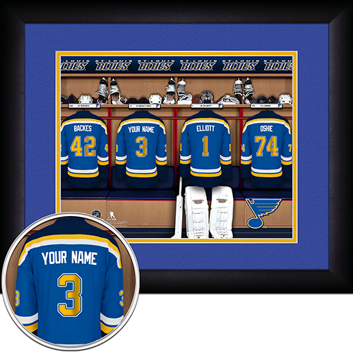 NHL St. Louis Blues Locker Room Sign with Personalization - Personalized Gifts for Men - GUYVILLE