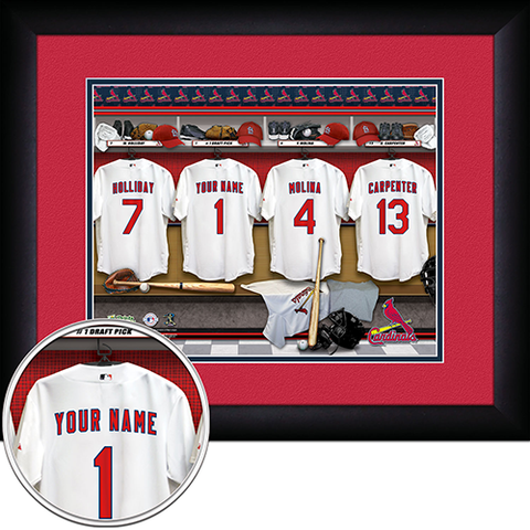 Personalized St. Louis Cardinals MLB Locker Room Sign
